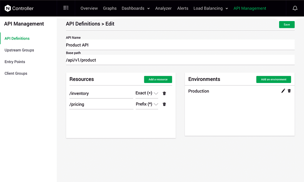 NGINX Controller Dashboards